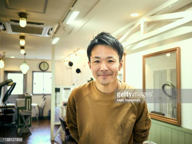 portrait of a small business businessman in 40s. - selective focus stock pictures, royalty-free photos & images