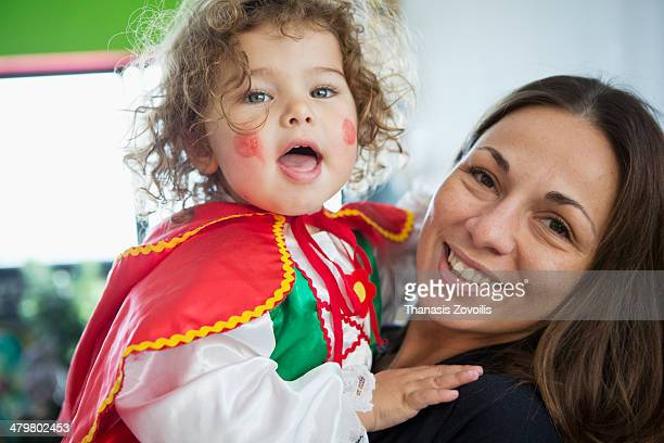portrait of a small girl with his mother - hazel bond stock photos and pictures