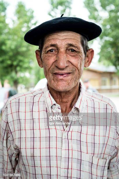 portrait of a smiling argentinean gaucho - argentina traditional clothing stock photos and pictures
