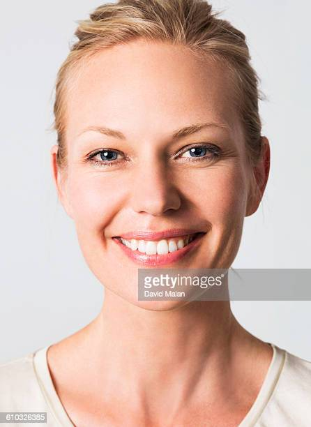 Portrait of a smiling blond woman