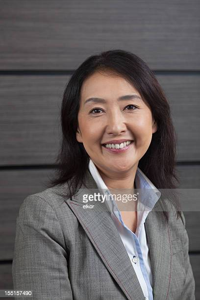 Portrait of a smiling Japanese businesswoman