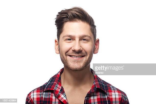 ritratto di un uomo sorridente - peluria del viso foto e immagini stock