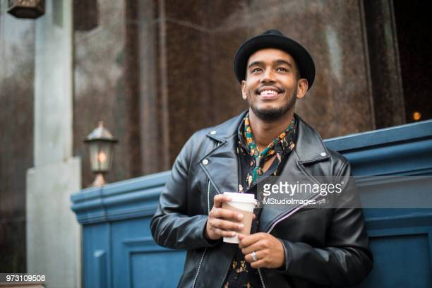 portrait of a smiling man - fashionable stock photos and pictures