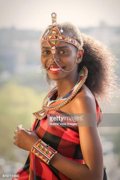Portrait of a smiling Masai woman