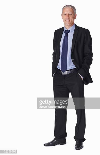 Porträt ein lächelnd Reifer Geschäftsmann