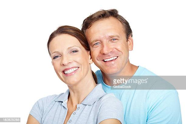 Portrait of a smiling romantic mature couple
