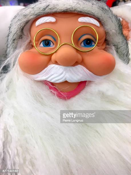 Portrait of a smiling Santa Claus puppet