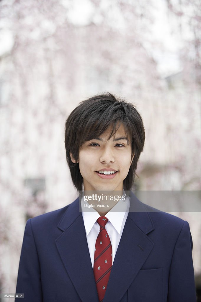 Portrait of a Smiling Schoolboy : Stock Photo