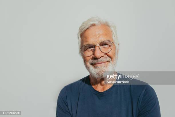 portrait of a smiling senior man - metrosexual stock pictures, royalty-free photos & images