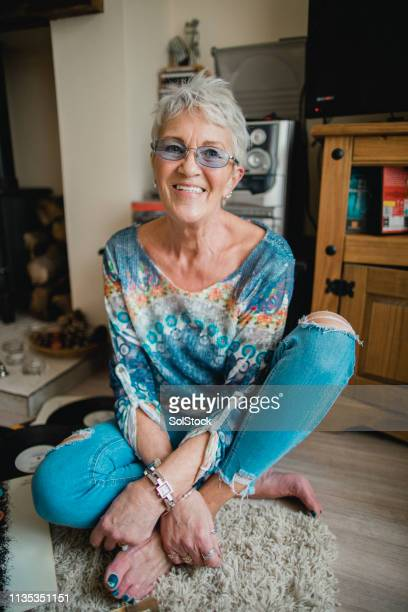 portrait of a smiling senior woman - showus stock pictures, royalty-free photos & images