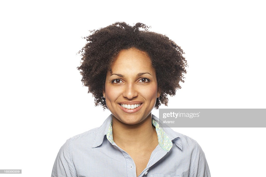 Retrato de uma mulher sorridente : Foto de stock