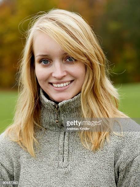 Portrait of a smiling woman Sweden.