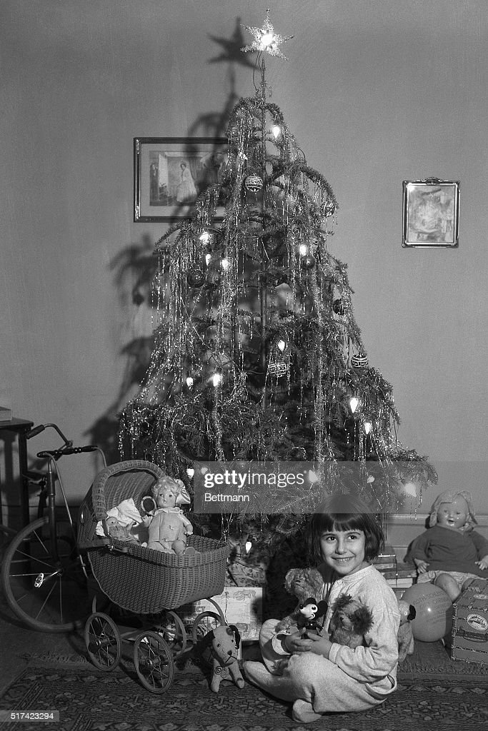 Girl And Toys Underneath Christmas Tree Pictures Getty Images