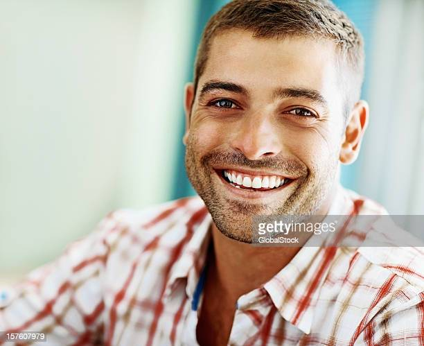 Portrait of a smiling young guy