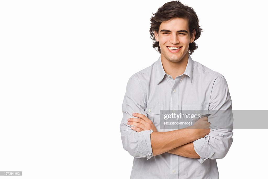 Portrait of a smiling young man : Stock Photo
