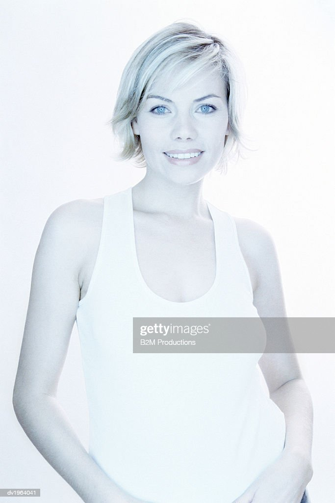 Portrait of a Smiling, Young Woman : Stock Photo