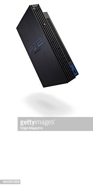 Portrait of a Sony PlayStation 2 video game console photographed on a white background taken on August 2 2013