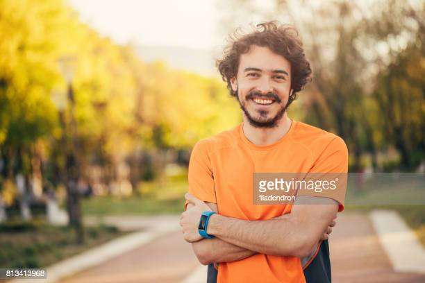 portrait of a sportsman - all shirts stock pictures, royalty-free photos & images