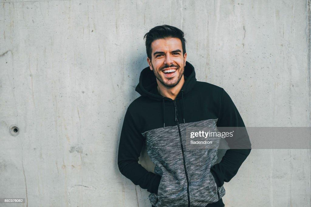 Portrait of a sportsman : Stock Photo