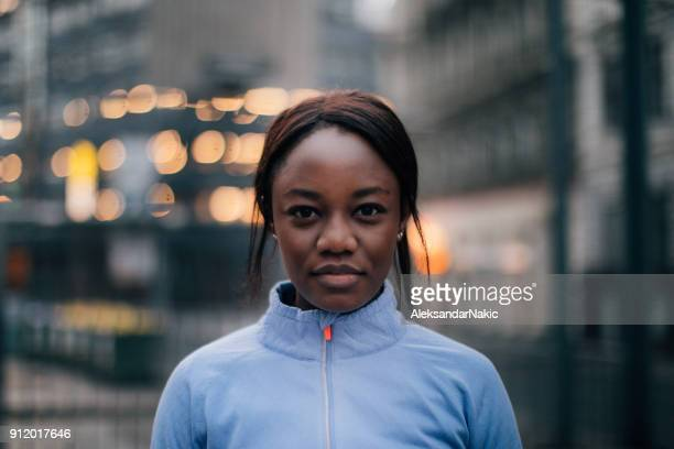 portrait of a sportswoman - persistence stock pictures, royalty-free photos & images
