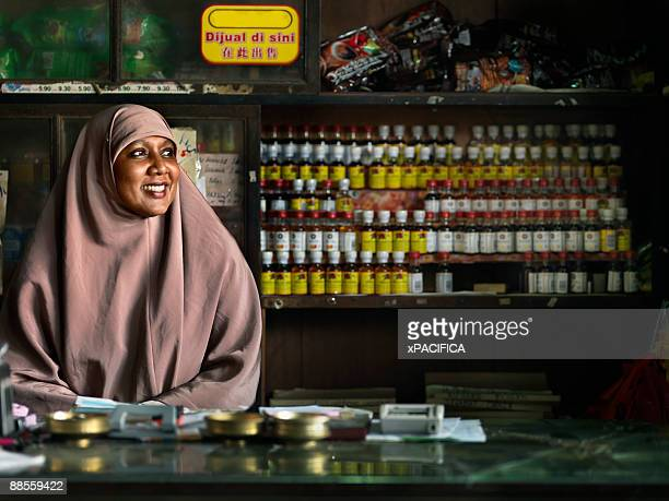 a portrait of a storekeeper - malaysia stock pictures, royalty-free photos & images