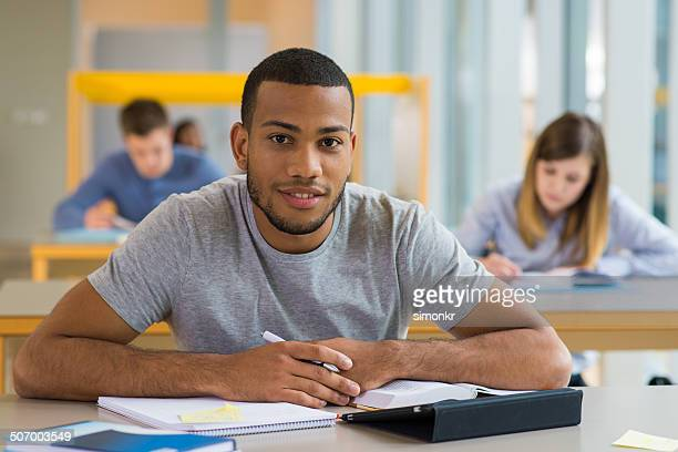 Portrait Of A Student In The Lecture Room