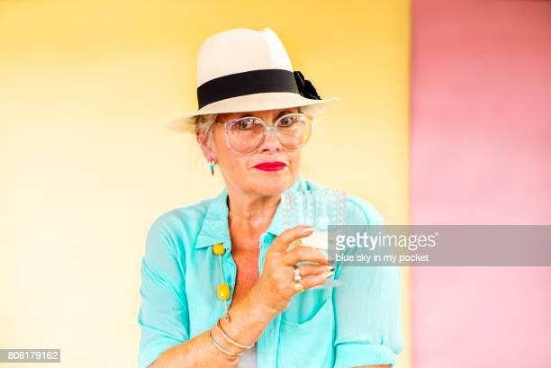 A portrait of a stylish senior.