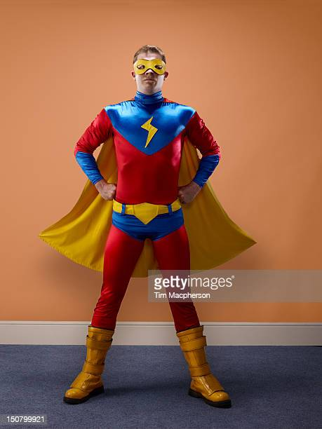 portrait of a super hero - superhero stock pictures, royalty-free photos & images