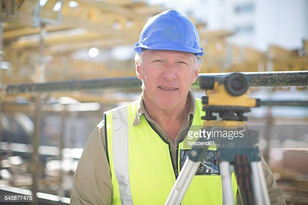 Portrait of a surveyor on construction site