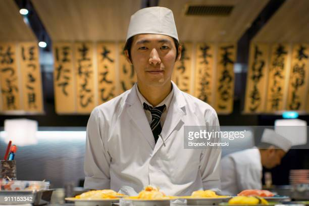 Portrait of a sushi chef / Tokyo, Japan