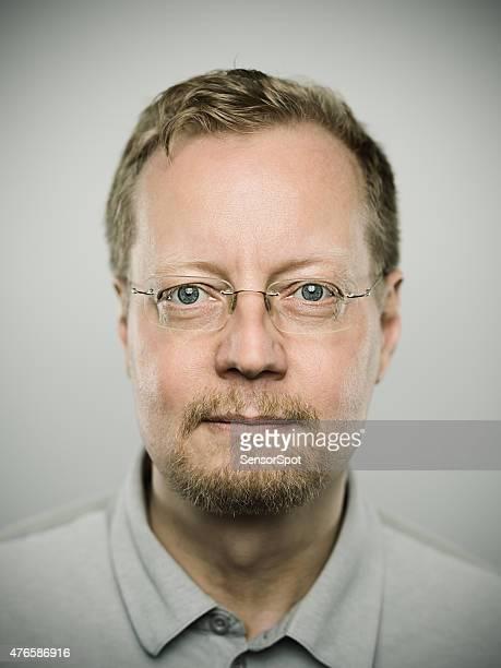 Porträt von eine schwedische real Mann