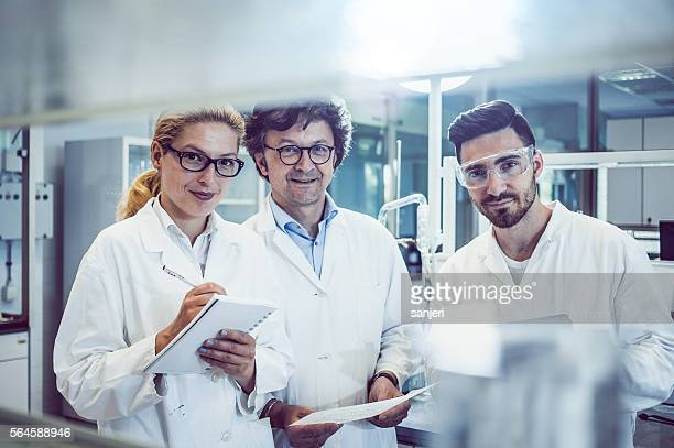 Portrait of a Team of Scientists in the Laboratory