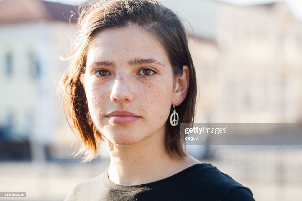 portrait of a teen girl : Stock Photo