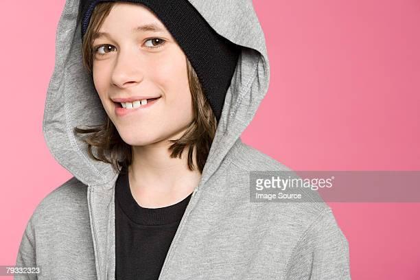 ポートレート、10 代の少年