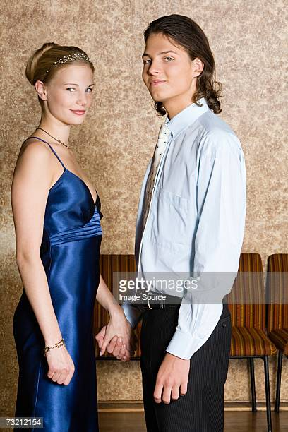 Portrait of a teenage couple