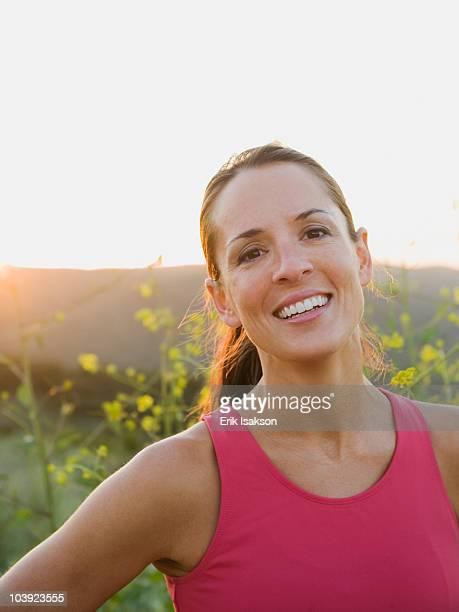 Portrait of a trail runner