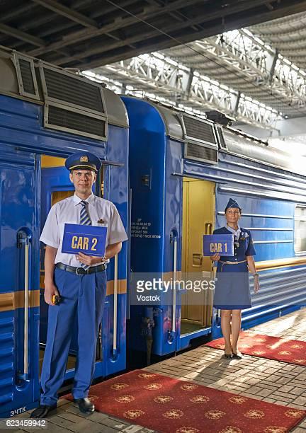 Portrait of a train conductor