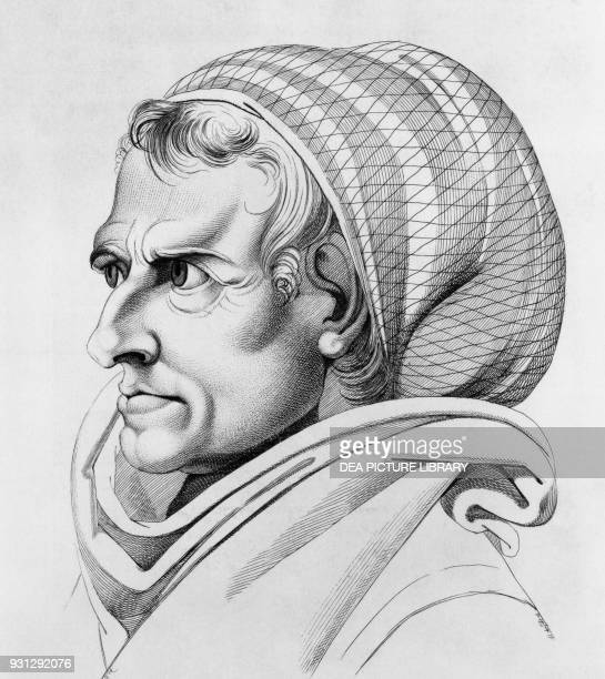 Portrait of a Trastevere resident 1779 engraving by Johann Heinrich Lips from a drawing by Johann Heinrich Fussli from Essai sur la physiognomonie...