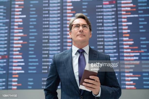 Portrait of a traveling business man at the airport