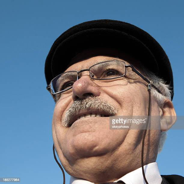 portrait of a turkish man - hairy old man stock pictures, royalty-free photos & images