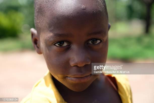 Portrait of a ugandan child on Septembre 22, 2018 in Tondola, Gomba District, Uganda.