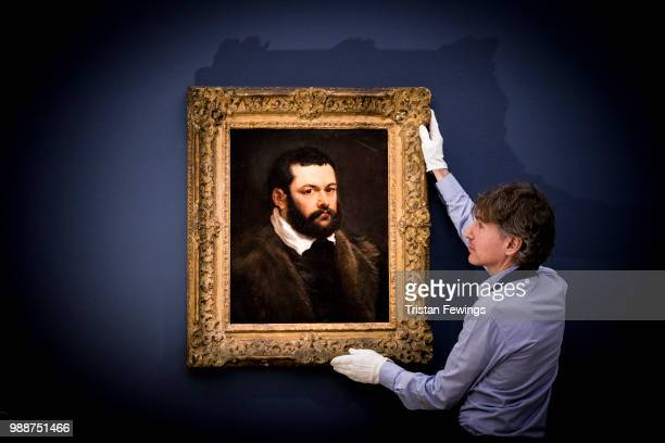 Portrait of a Venetian Nobleman by Sir Peter Paul Rubens 17th Century goes on display as part of the Old Masters Exhibition at Sotheby's on June 29...
