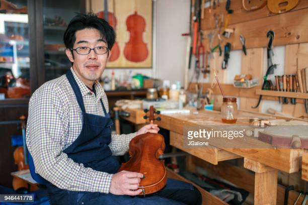 Portrait of a violin maker