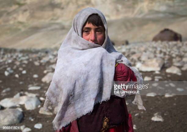 Portrait of a wakhi nomad girl Big pamir Wakhan Afghanistan