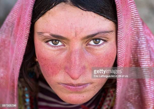 Portrait of a wakhi nomad woman, big pamir, wakhan, Afghanistan on August 11, 2016 in Wakhan, Afghanistan.