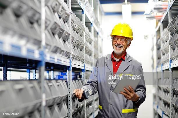 Portrait of a  warehouse worker