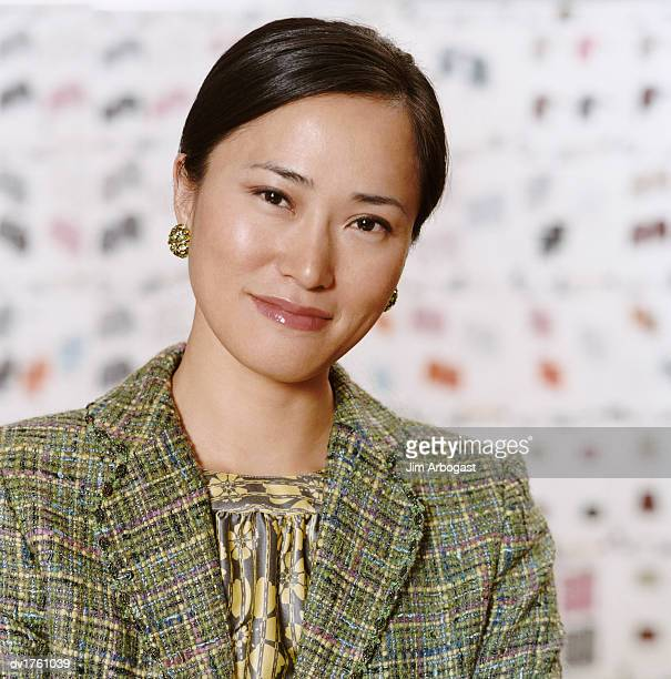 Portrait of a Well Dressed Woman Wearing a Tweed Jacket