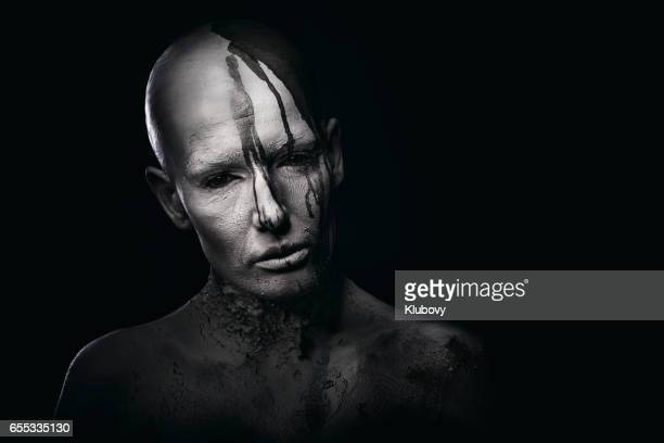portrait of a white human - demons stock photos and pictures