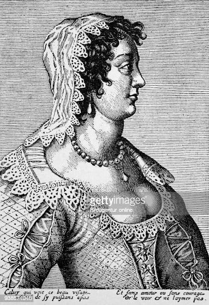 Portrait of a whore in Holland 17th century digital improved reproduction from a publication of the year 1880