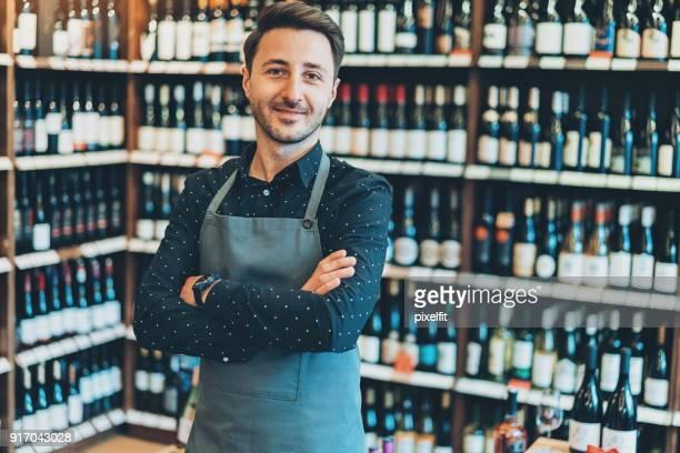 Portrait of a wine shop owner